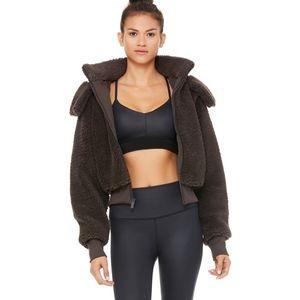 NWOT ALO Yoga Foxy Sherpa Jacket - Dark Coco
